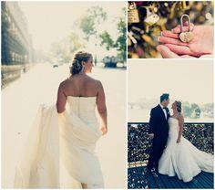 romantic #wedding #Paris #Louvre #Pont Royal