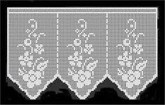 Resultado de imagem para cortinas de croche para cozinha com graficos