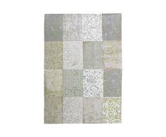 Alfombra Cameo, beige y verde - 80x150 cm