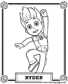 print paw patrol ryder coloring pages
