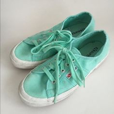 Superga for J.Crew in Mint Loved these quite a bit for a couple of Summers but still have lots of wear left in them. Size 7 J. Crew Shoes