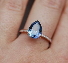 Tanzanite Ring. Rose Gold Engagement Ring by EidelPrecious on Etsy #GoldJewellerySimple