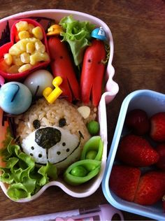 Teddy Bear Bento Lunch (Boof of Suzy's Zoo) スージー・ズー弁当