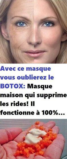Avec ce masque vous oublierez le BOTOX: Masque maison qui supprime les rides! Il fonctionne à 100%… Healthy Beauty, Healthy Tips, Masque Anti Ride, Les Rides, Dermal Fillers, Face And Body, Anti Aging, Massage, Health Fitness