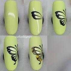 Photo shared by 💎 𝑱𝒆𝒔𝒔𝒊𝒄𝒂 on January 2020 tagging and Nail Art Hacks, Nail Art Diy, Diy Nails, Butterfly Nail Designs, Butterfly Nail Art, Minimalist Nails, Pretty Nail Art, Beautiful Nail Art, Beauty Nail