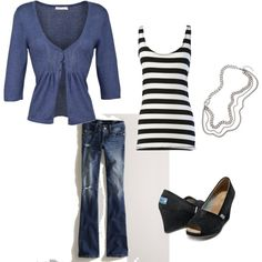 I need me some TOMS wedges (and the rest of this outfit) !!!