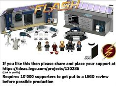 If everyone who watches the flash supports this LEGO might make it in to a set. Feel free to repin and support. This is someone elses project i just think this is set worthy and would love to see this in the stores. Love The Flash