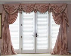 waterfall Window Treatment Ideas for French Doors | article will focus and concern windows treatments for french doors