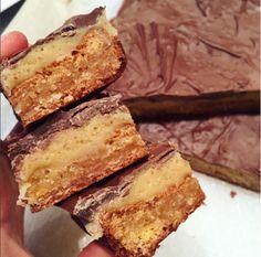 Healthy Chocolate Caramel Slice