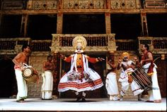 Kathakali is native to Kerala and originated about 400 years ago. It is inspired from Koodiyattam, Krishnanattam, Theyyam, Kalaripayattu. The theme is usually based on the stories from the great epics of Hindu mythology.   'Katha' means story and 'Kali' means dance drama. In fact it is a harmonious blend of five forms of art namely, Sahithyam, Sangeetham, Chithram, Natyam and Nritham.  'Total Theatre' is the word often used to describe this highly evolved art.