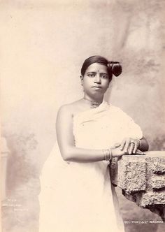 Beautiful+Malyalam+Woman+-Silver+Gelatin+Photograph+1900%2527s