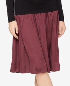 A Pea In The Pod Maternity A-Line Skirt - Dusty Plum XS