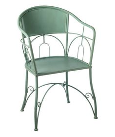 Turquoise Scroll Patio Chair #zulily #zulilyfinds
