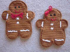 Gingerbread Pot Holders - 2010