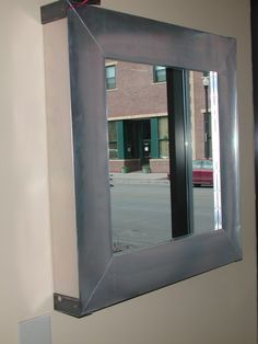 Aluminum & steel mirror badman.com | Badman Design | Grand Forks, ND