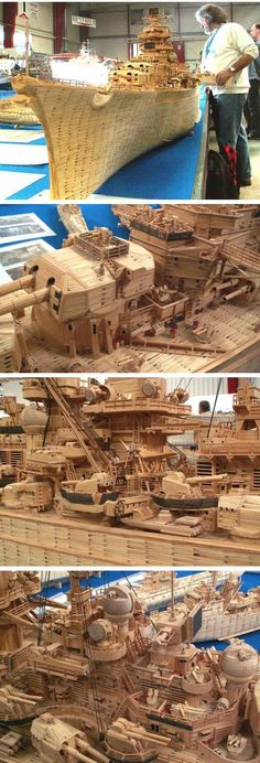 Tirpitz reconstruído com 71 mil palitos de fósforo
