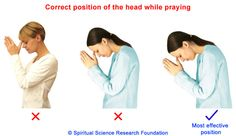 Correct posture when praying