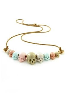 Vivienne Westwood skull bead small necklace