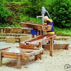 water pumps playground children - Google Search
