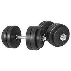 Set haltères court avec revêtement en plastique 30 Kg: 4 x disques de 1.25 kg 8 x disques de 2.5 kg 2 x barres de musculation courtes 43 cm…