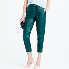 Collection leather pant with D-ring belt : pants   J.Crew