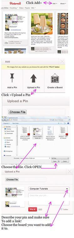 Step by step #instructions on #how to add a #pin to Pinterest.  www.lovemylessons.com