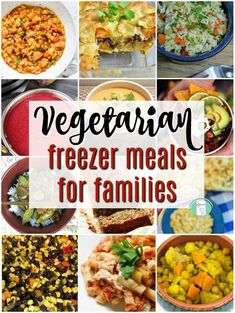 Dinner is easy with these make ahead Vegetarian freezer meals for families meals make ahead vegetarian Vegetarian Freezer Meals for Easy Family Dinners Vegetarian Freezer Meals, Freeze Ahead Meals, Vegetarian Recipes Dinner, Freezer Cooking, Cooking Tips, Freezer Recipes, Dinner Healthy, Dinner Recipes, Vegetarian Lifestyle