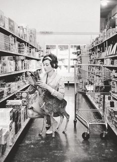 An amazing photo of Audrey and her pet deer.