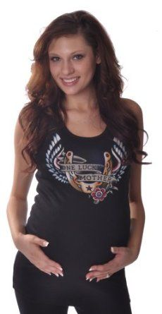 "Hot Mama Ink ""One Lucky Mother"" Maternity Tank (Small/Medium) Hot Mama Ink. $32.00"