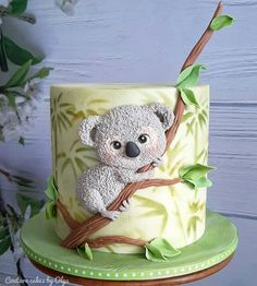 Cake Designs For Girl, Cake Designs Images, Animal Birthday Cakes, Baby Birthday Cakes, Animal Cakes For Kids, Safari Cakes, Bolo Cake, Pretty Birthday Cakes, Hand Painted Cakes