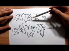 How to draw Graffiti Letters STEP BY STEP | Graphics Graffiti and Illustration - drawing tutorial