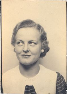 ** Vintage Photo Booth Picture **  That sideways glancing look ...