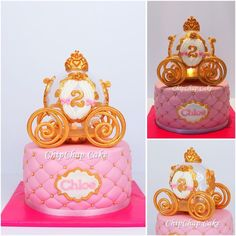 Cinderella's Coach Cake Kutsche Cake with light (from fb: Hannover ChipChap Cake) Cinderella, Facebook, Mini, Cake, Desserts, Food, Tailgate Desserts, Pie, Kuchen
