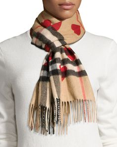 Giant-Check Cashmere Scarf | Scarfs, Stones and Burberry