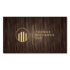 Professional Dark Wood Realtor, Real Estate, Property Management, Attorney and Lawyer Business Card Template - fully customizable front and back design - just update with your own info!