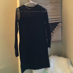 Zara Dress Never worn. Mesh lining on the neck/arms Zara Dresses Mini