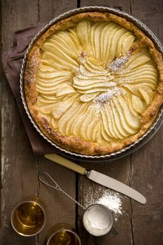 Rustic, pear tart. #photography #food #styling