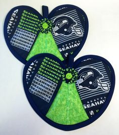 A personal favorite from my Etsy shop https://www.etsy.com/listing/208903691/seattle-seahawks-nfl-heart-hot-pad-pair
