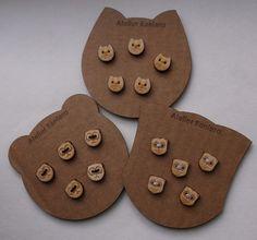 Set of 5 Wooden Buttons 1.2 cm Diameter Lasercut by AtelierRaniera, $6.50