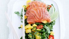 Sashimi med mangosalat