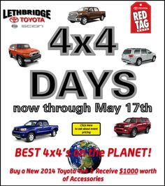 go to www.lethbridgetoyota.com for more details!