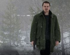 """Michael Fassbender as Harry Hole in """"The Snowman"""" upcoming 2017 film"""