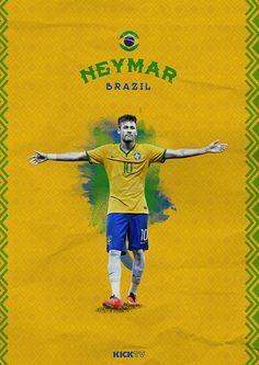 Copa America 2015 on Behance / Neymar / Brazil / Brasil / Verde Amarela / Scratch Lionel Messi, Messi And Neymar, Good Soccer Players, Football Players, Fifa, Psg, Cristiano Ronaldo, Mens World Cup, Neymar Brazil