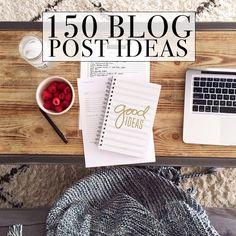 150 Blog Post Ideas when Writers Block Strikes