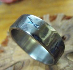 Distressed Titanium Ring on Etsy, $85.00