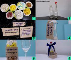 Ideia de Presente Barato para o Dia dos Pais | DIY Father's Day | Champagne | Bottle | Garrafa | DIY DIA DOS PAIS Veja o vídeo em → https://youtu.be/3R83qcyCMUE