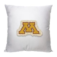 Minnesota Golden Gophers Letterman Pillow for a sofa, chair or bed.