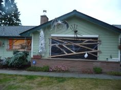 Here are photos of the finished product  displayed on the front of the house.