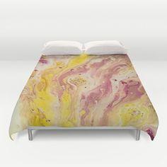 Duvet cover, yellow bedding, Yellow Bedroom décor, purple duvet cover, yellow duvet covet, colorful duvet cover, saribelle duvet cover #homedecor #saribelleinspirationalart