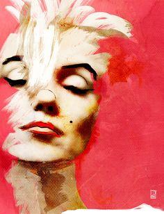 Marilyn Monroe Series - Pink Art Print